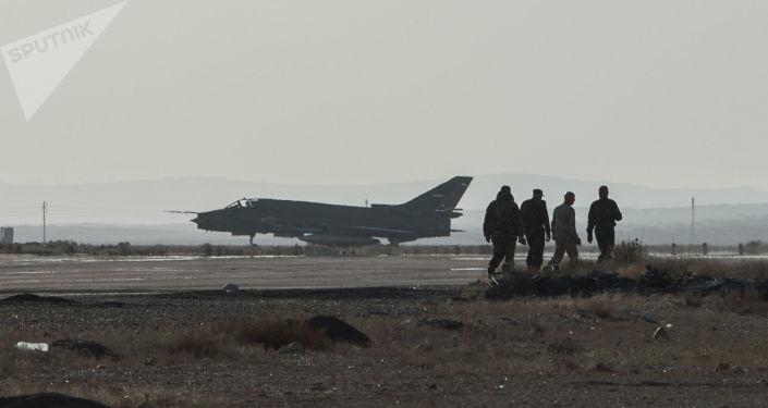 Syrská stíhačka Su-22