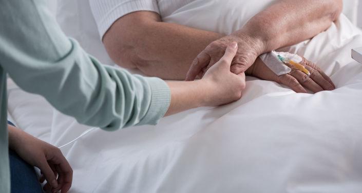 Žena, postižená rakovinou