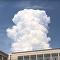 Nad Novosibirskem se objevila obrovská oblačná věž