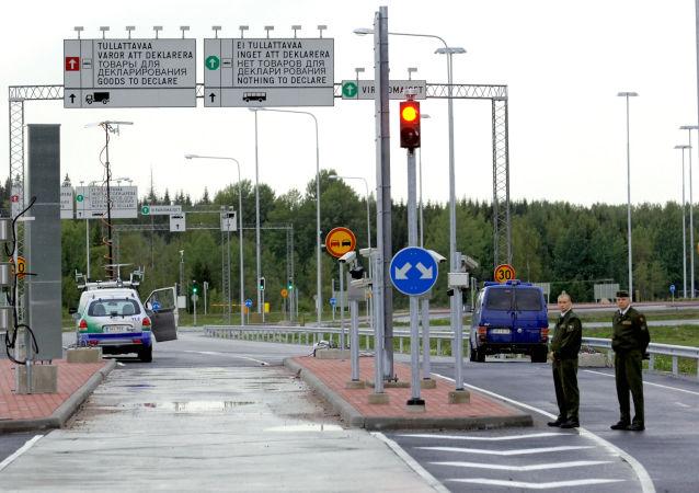 Rusko-finská hranice. Archivní foto
