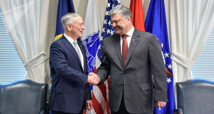 James Mattis a Petro Porošenko