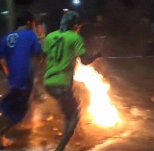 Ohnivý fotbal
