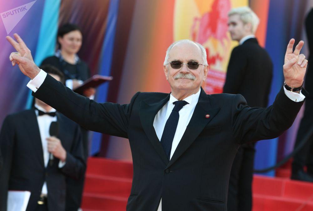 Režisér Nikyta Michalkov během slavnostního zahájení Moskevského mezinárodního filmového festivalu