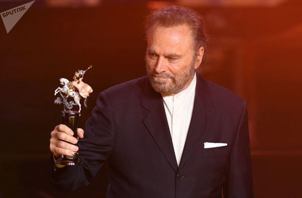Italský herec Franco Nero během slavnostního zahájení Moskevského mezinárodního filmového festivalu