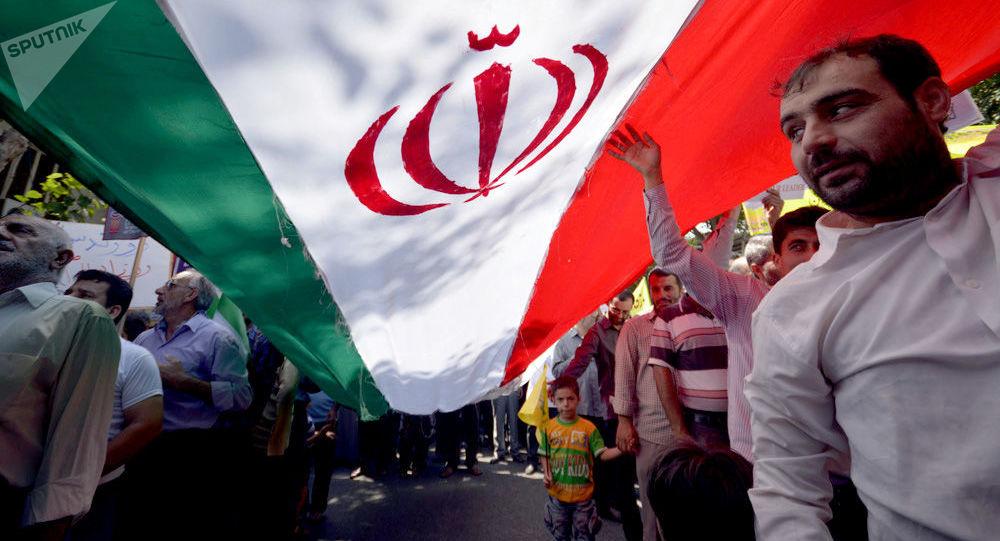Íránská vlajka. Ilustrační foto