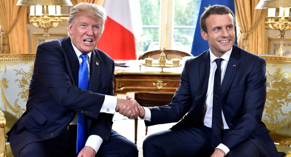 Donald Trump a Emmanuel Macron