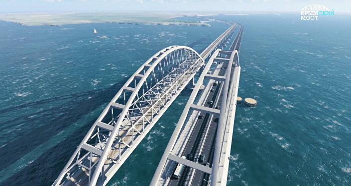 Nejpřesnější 3D model Krymského mostu