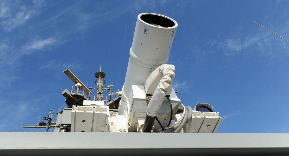 Laser umístěný na palubě americké lodě Ponce
