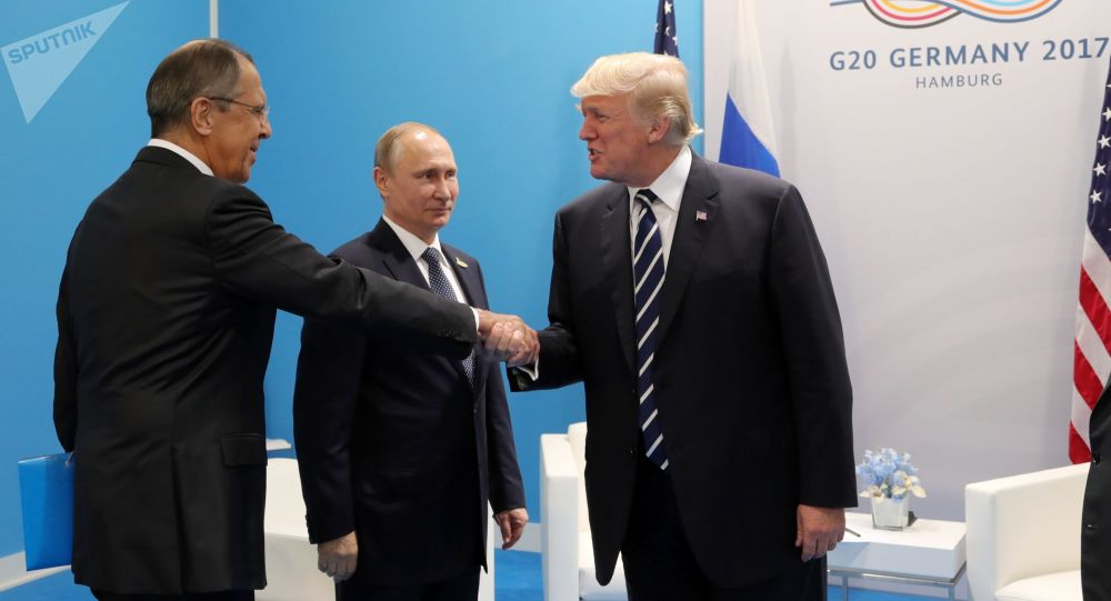 Sergej Lavrov, Vladimir Putin a Donald Trump