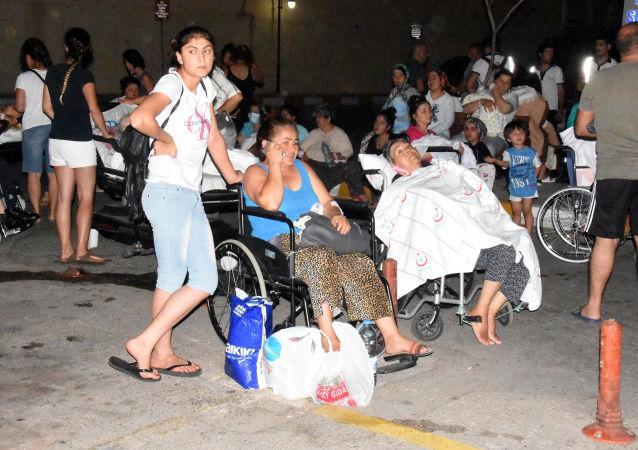 Oběti zemětřesení v tureckém městě Bodrum