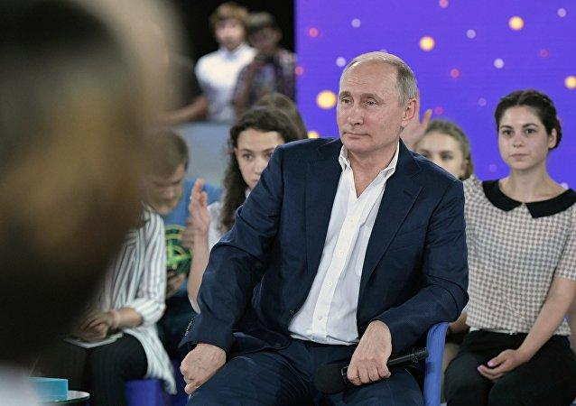 Ruský prezident Vladimir Putin v centru Sirius