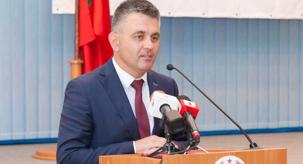 Hlava neuznané Podněsterské Moldavské republiky (PMR) Vadim Krasnoselský