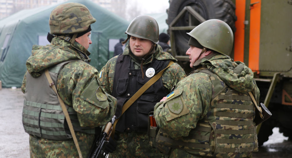 Ukrajinští vojáci v Doněcké oblasti