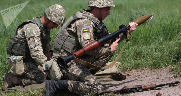 Ukrajinští vojáci během cvičení. Archivní foto