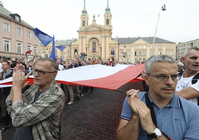 Protestní akce proti soudní reformě v Polsku