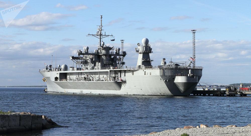 Vlajková loď americké šesté flotily Mount Whitney