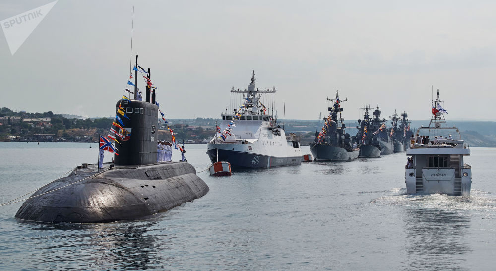 Generální zkouška lodní přehlídky ke Dni Vojenského námořnictva