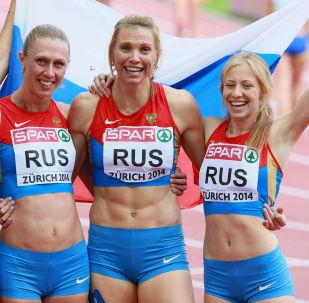 Ruští lehcí atleti. Archiví foto