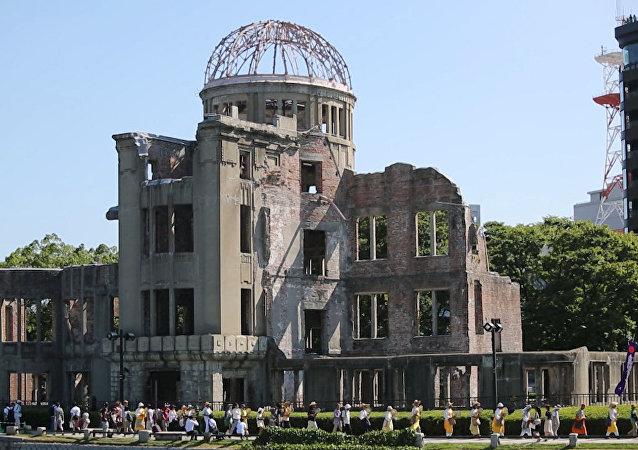Vzpomínkový ceremoniál obětem jaderného bombardování v Hirošimě