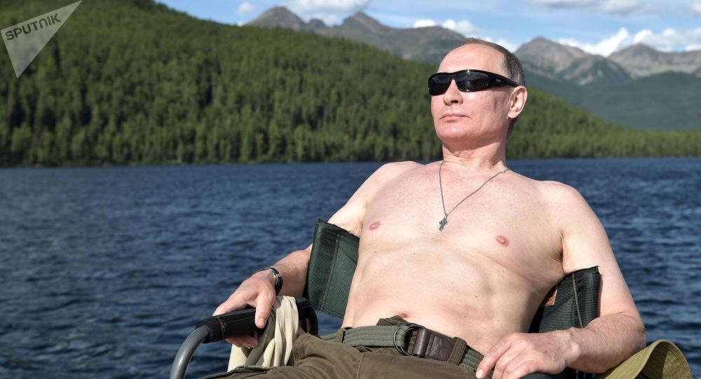 Ruský prezident Vladimir Putin v Tyvě