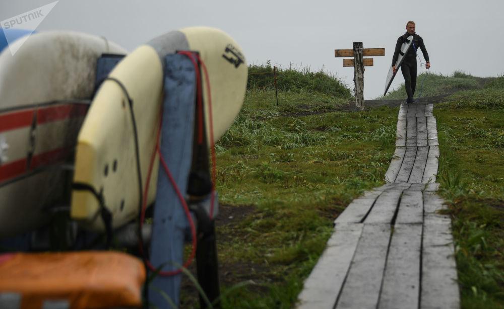 Surfování na Kamčatce