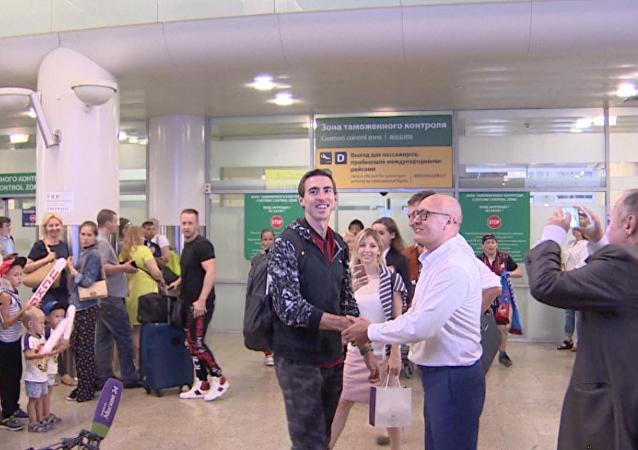 Sergeje Šubenkova vítají v Moskvě jako hrdinu