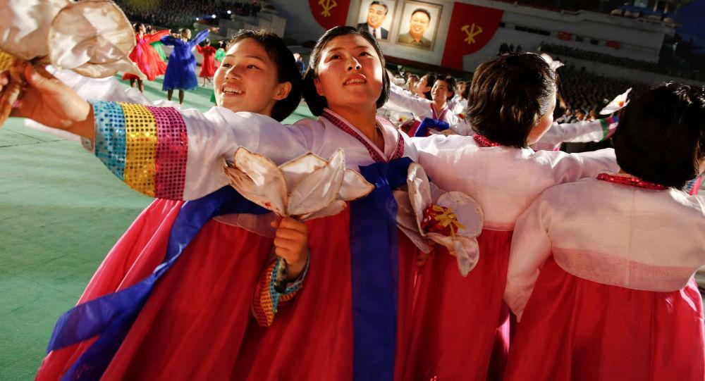 Přehlídka po sjezdu vládnoucí Korejské strany práce