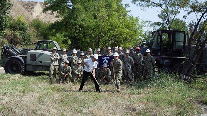 Položení fundamentu operačního centra námořnictva USA na ukrajinské námořní základně v Očakově