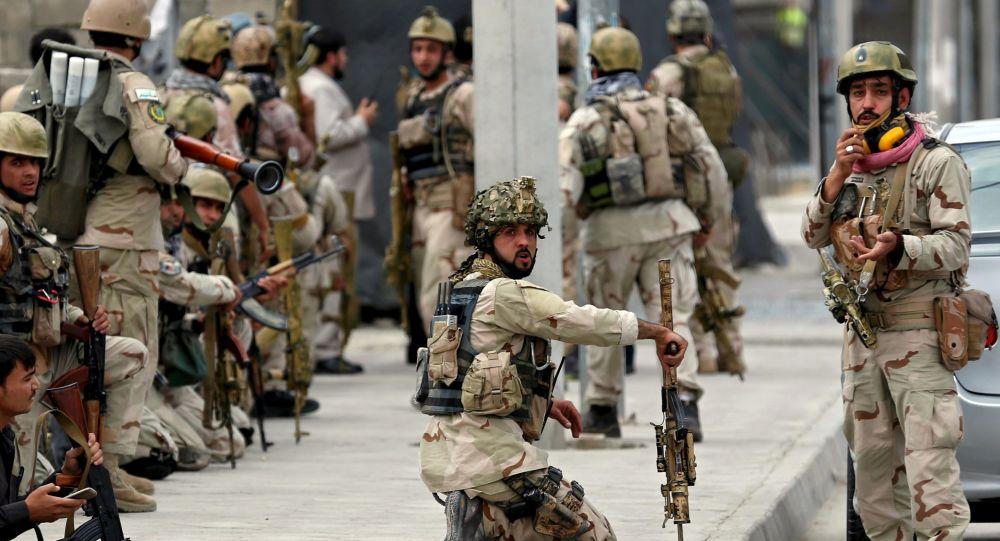 Afghánské sily bezpečnosti v Kábulu.