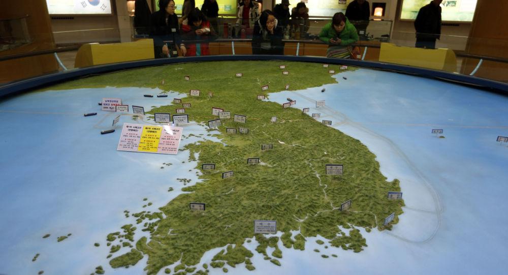 Mapa korejského poloostrovu