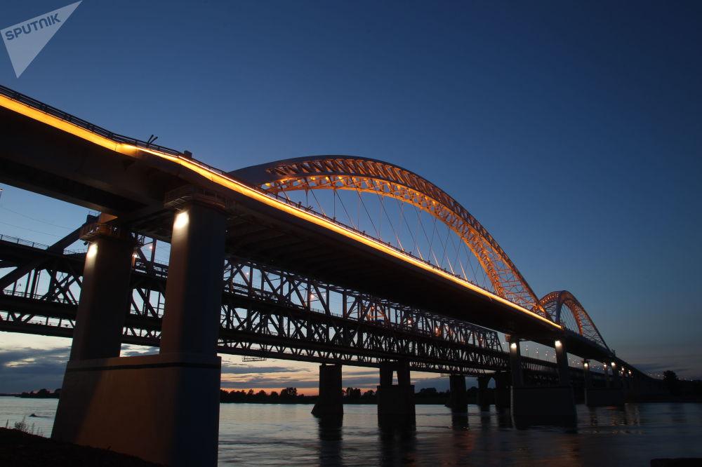 Nový most pro automobily přes Volhu v Nižním Novgorodu
