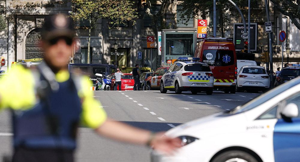 La policía en Barcelona tras el atropello
