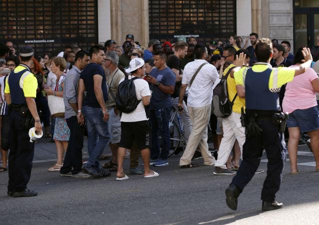 Na místě útoku v Barceloně