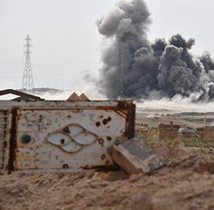 Útok ruských VKS na pozice IS v městě Dajr az-Zaur