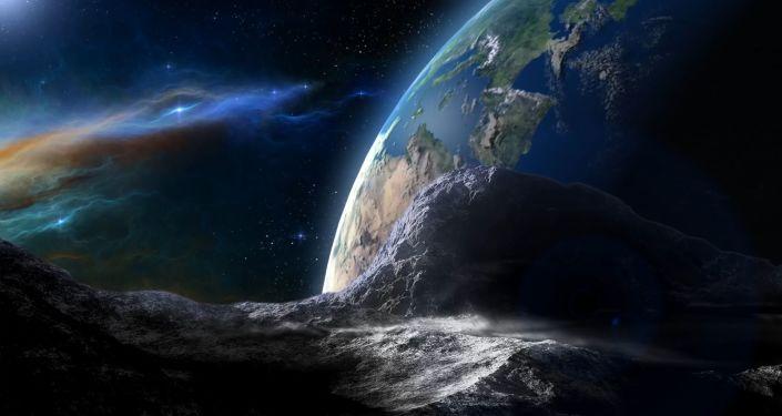 Asteroid, který se směřuje k Zemi