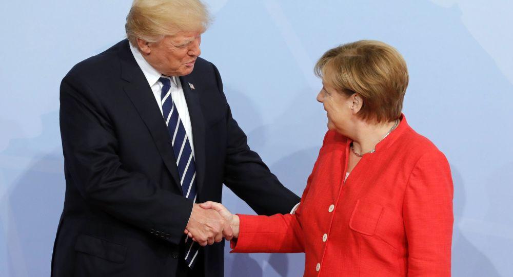 Merkelová a Trump