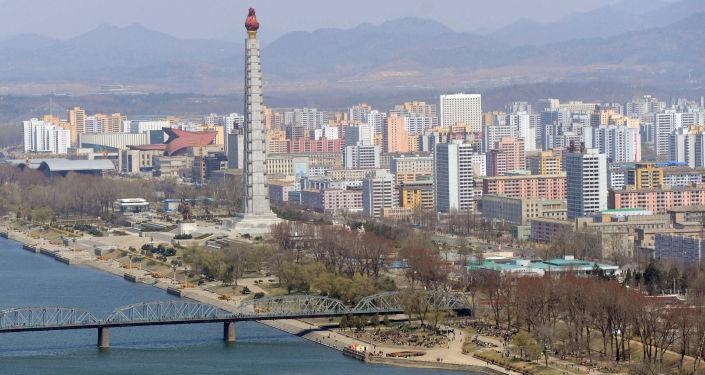 Pohled na Pchjongjang