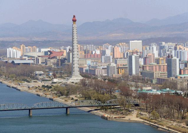 Pohled na Pchjongjang. Ilustrační foto
