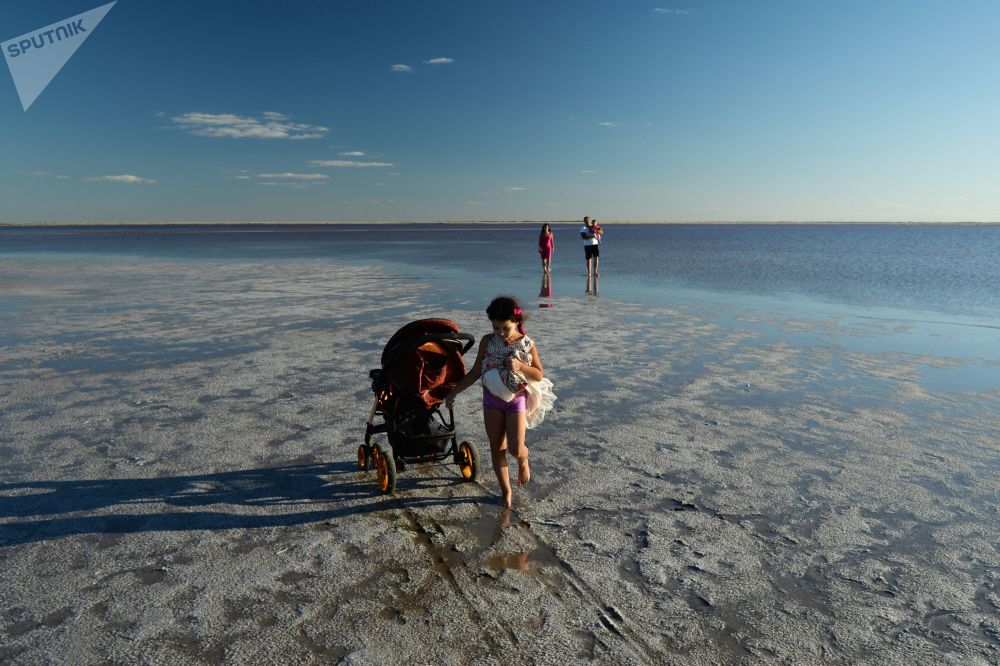 Odpočinek u růžových jezer Altajského kraje