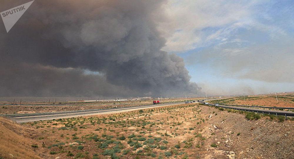 Požár na muničním skladu. Ilustrační foto