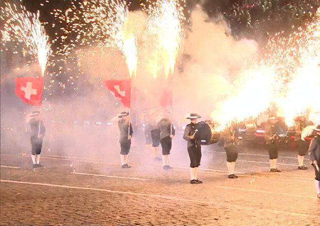 Slavnostní zahájení festivalu Spasskaja bašnja v Moskvě