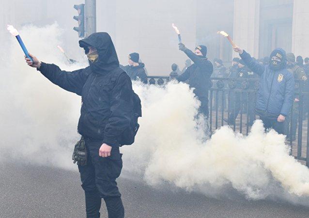 Mítink v Kyjevě. Ilustrační foto