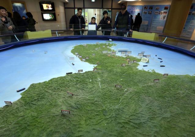 Mapa Korejského poloostrova