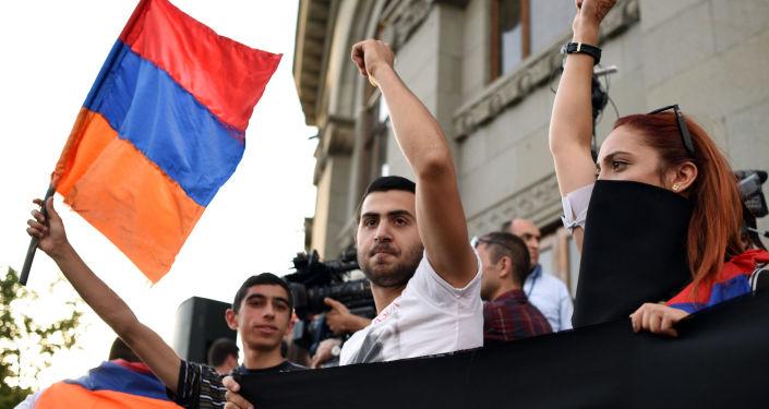 Protestné akce v Jerevanu