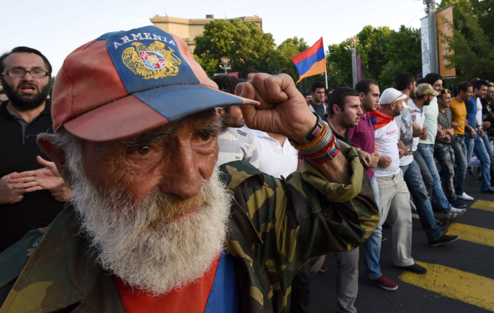 Protestní akce v Jerevanu