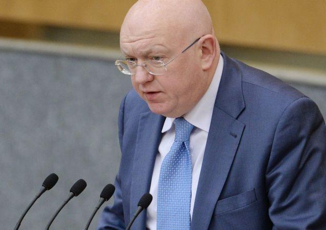 Stálý zástupce Ruska při OSN Vasilij Nebenzja