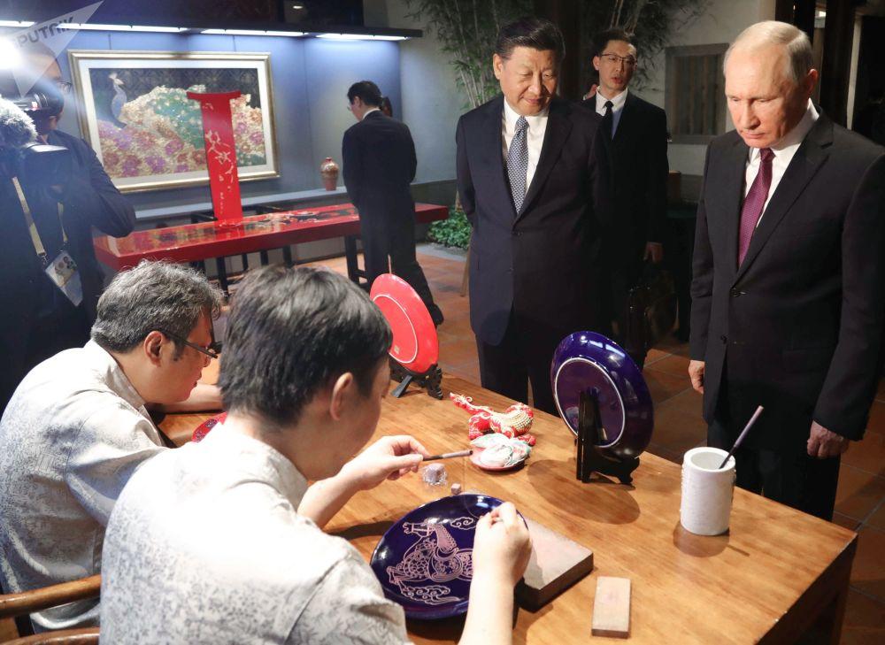 Návštěva Vladimira Putina v Číně