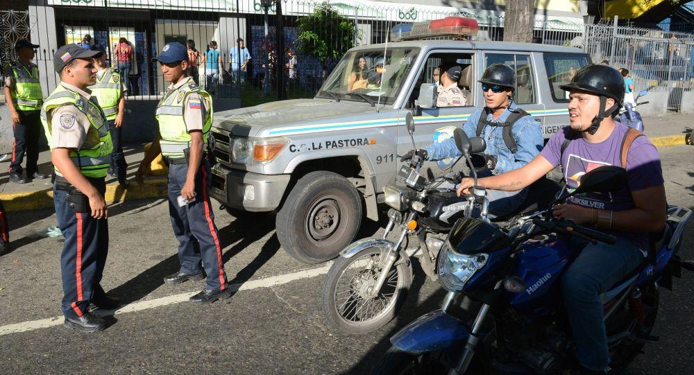 Caracas. Policie. Ilustrační foto