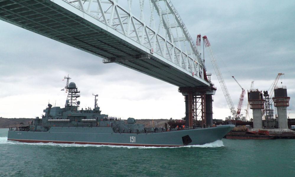 Stavba Krymského mostu: nejnovější záběry