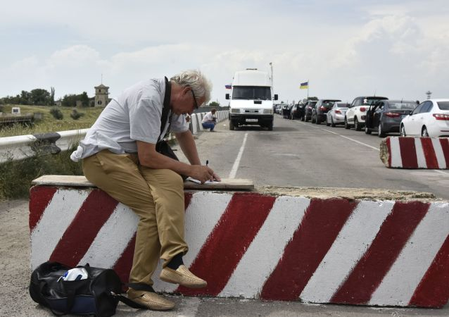 Rusko-ukrajinská hranice. Ilustrační foto